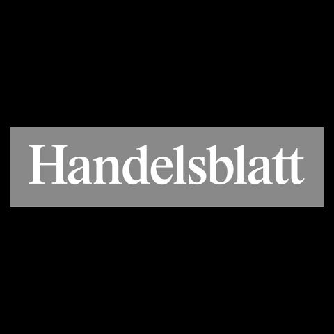 Logo Handelsblatt, black & white