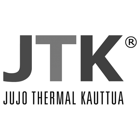 Logo Jujo Thermal Kauttua, black & white