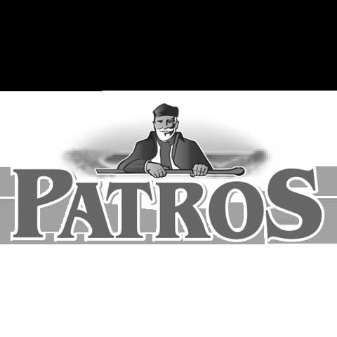 Logo Patros, black & white