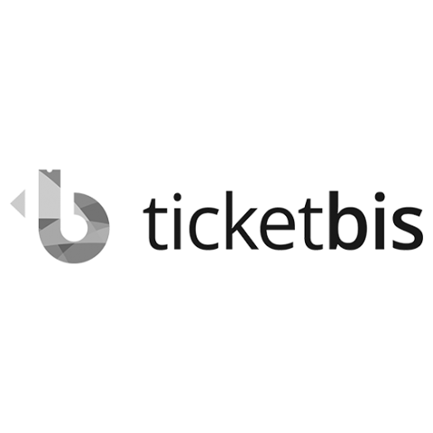 Logo ticketbis, black & white