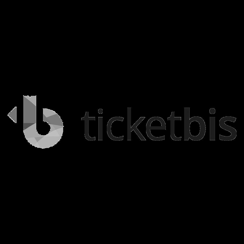 Logo ticketbis, black & white