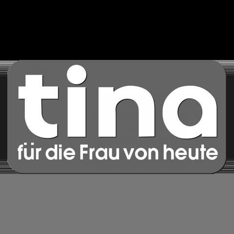 Logo tina, black & white