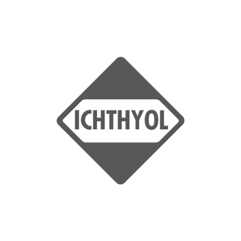 Logo ICHTHYOL, black & white