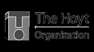 Logo The Hoyt Organization, black & white