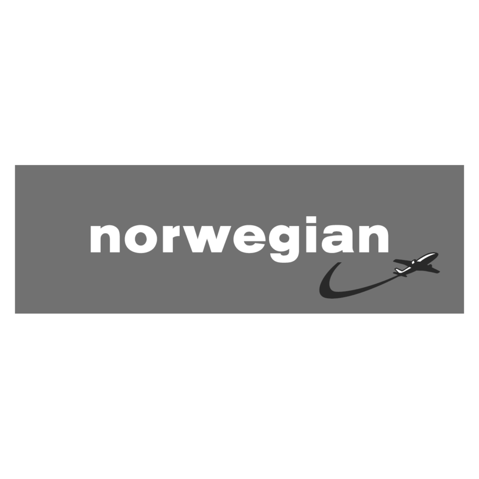Logo norwegian, black & white