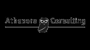 Logo Athenora Consulting, black & white