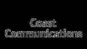 Logo Coast Communications, black & white