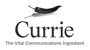 Logo Currie Communications, black & white