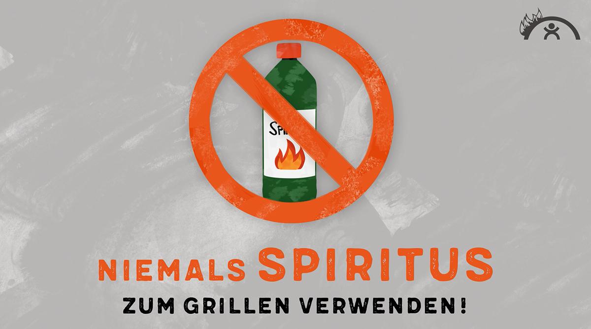niemals spiritus zum grillen verwenden grillunf lle verhindern pr agentur deutschland. Black Bedroom Furniture Sets. Home Design Ideas