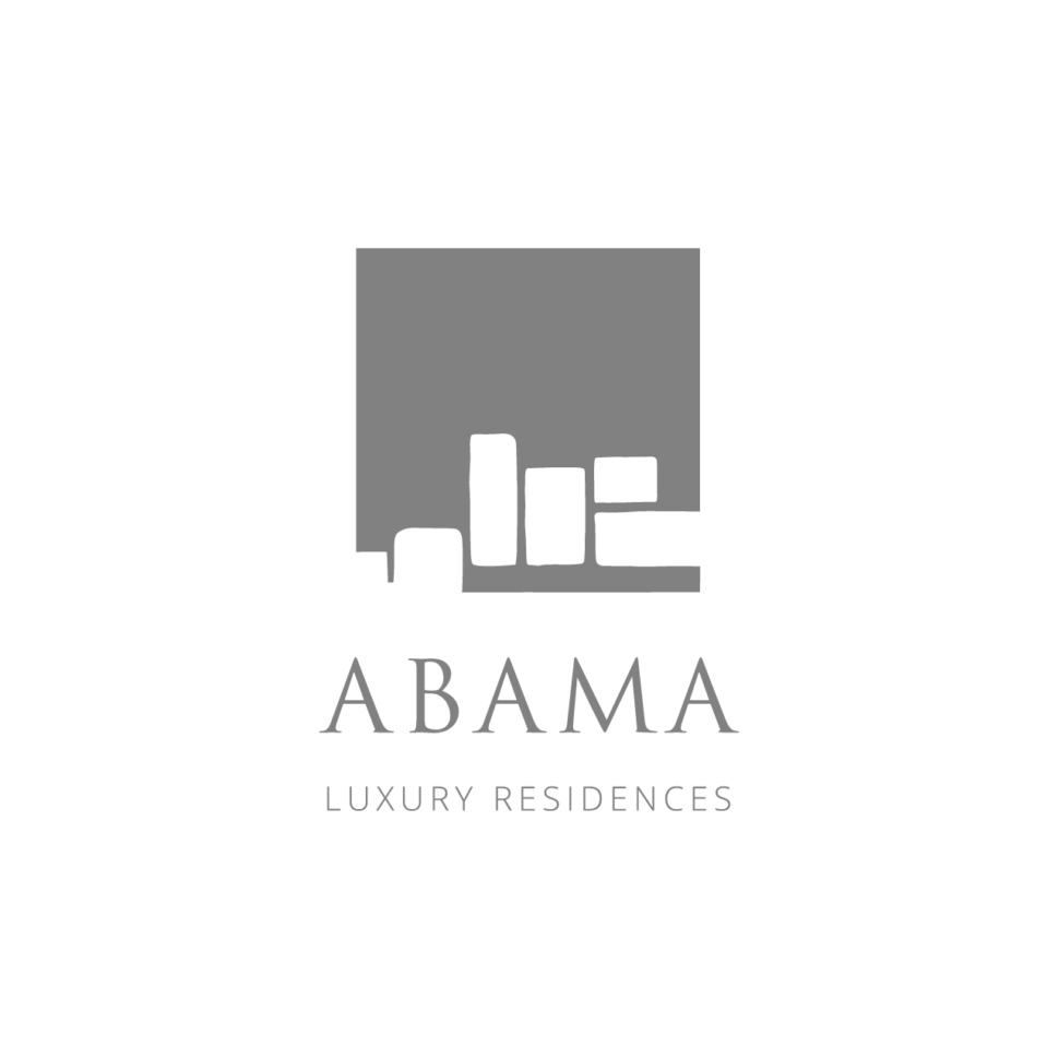 Logo Abama Luxury Residences, black & white